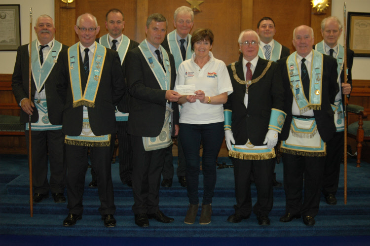 RWBro Lee with the honoured brethren